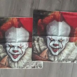 NEW PENNYWISE IT PILLOW CASE SET HORROR